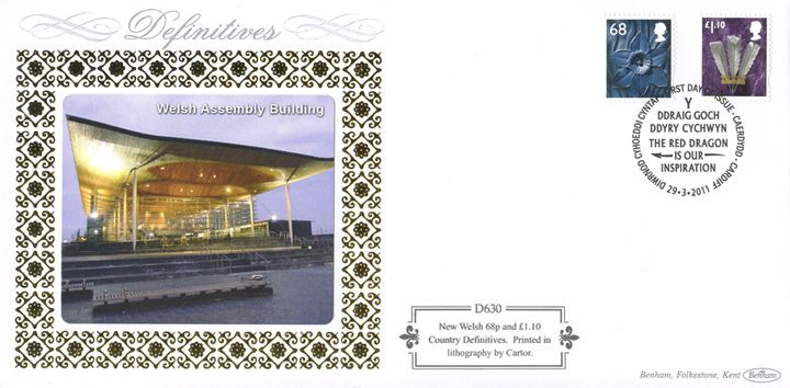 Wales 68p, £1.10, Welsh Assembly Building