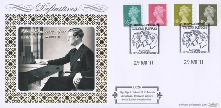 Machins (EP): 68p, 76p, £1.10, £1.65, Accession of Edward VIII