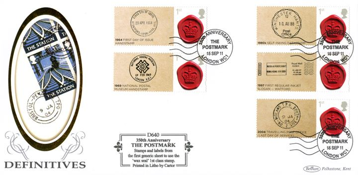 350 Years of the Postmark: Generic Sheet, Travelling Post Office
