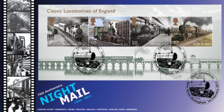 Classic Locomotives: Series No.1: Miniature Sheet, Night Mail