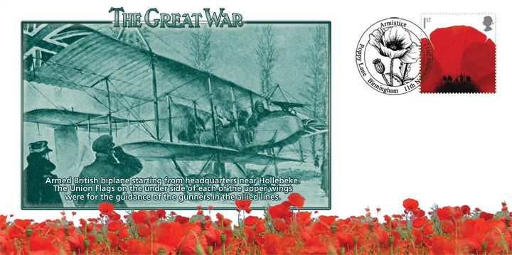 The Great War, Armed British biplane
