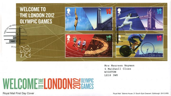 Welcome to the London 2012 Olympic Games: Miniature Sheet, Welcome to the Games