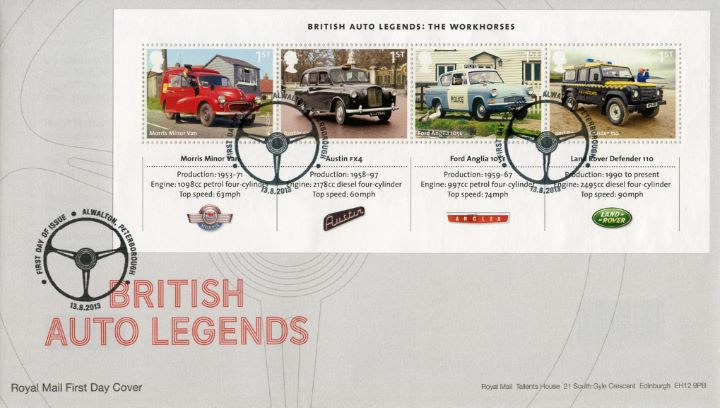 British Auto Legends: Miniature Sheet, Steering Wheel