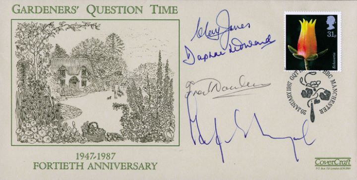 Flowers, Gardeners' Question Time - signed