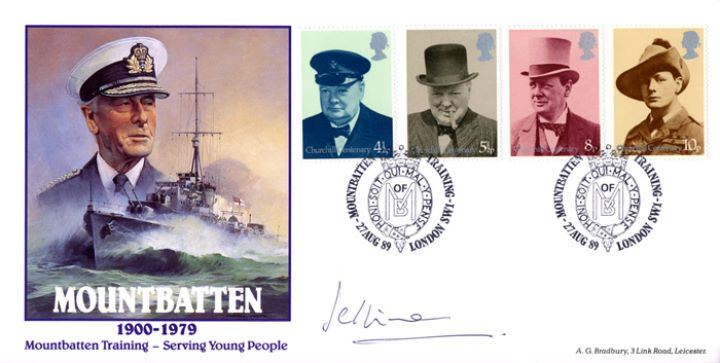 Mountbatten, With Churchill Stamps
