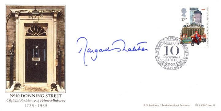 The Royal Mail, Margaret Thatcher Signed Cover
