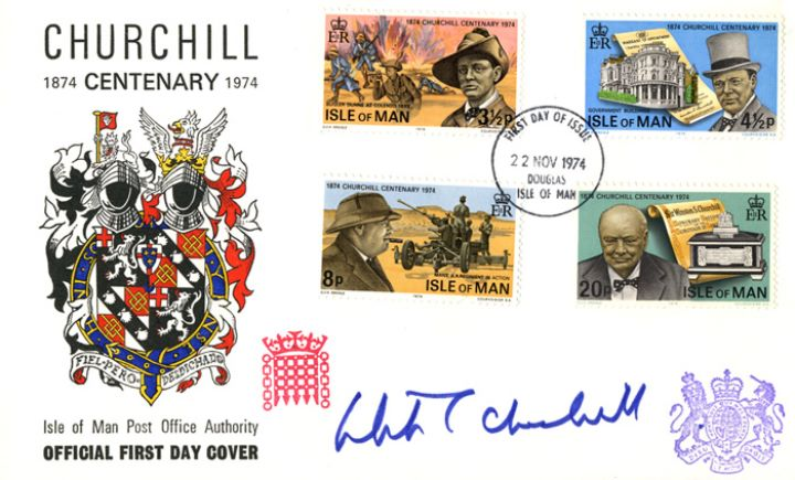 Churchilll Centenary, Isle of Man issue