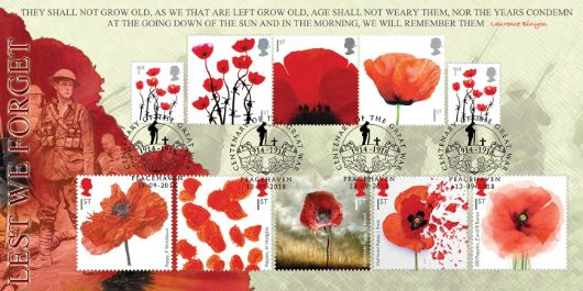 These Poppy stamps were issued between 2006 - 2018