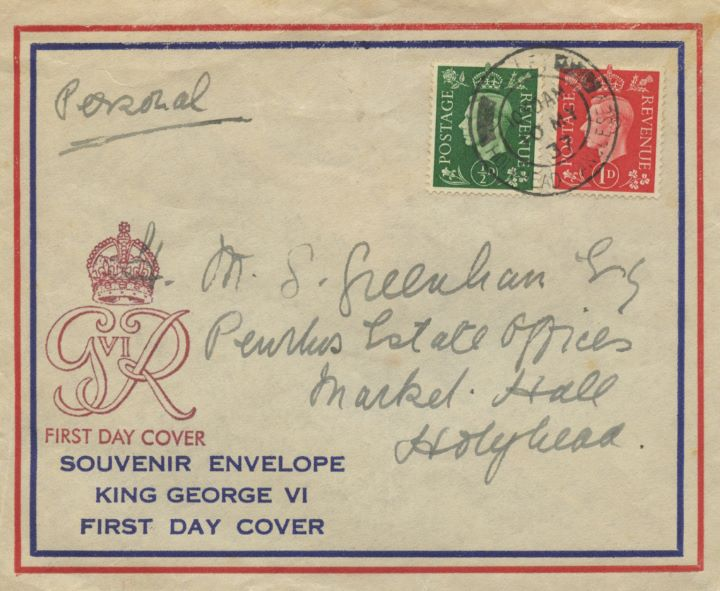 KGVI: 1/2d, 1d, 2 1/2d, The first stamps of George VI