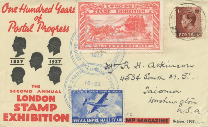 London Stamp Exhibition, Mailcoach stamp label