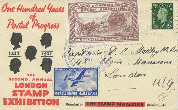 London Stamp Exhibition, 100 Years of Postal Progress