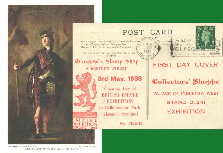 Col Alastair Macdonnel of Glengarry, King George V Postcard