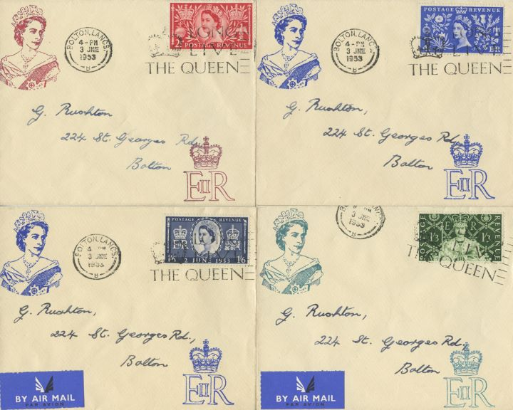 Elizabeth II Coronation, H M The Queen - Set of 4