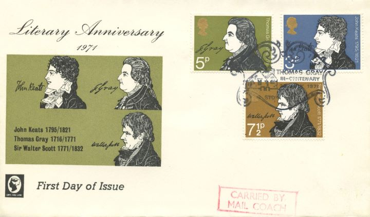 Literary Anniversaries 1971, Carried by Mail Coach