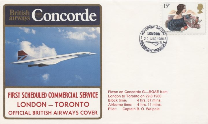 Concorde, First London-Toronto