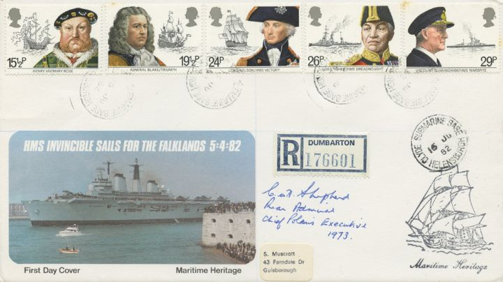 Maritime Heritage, HMS Invincible Sails for the Falklands