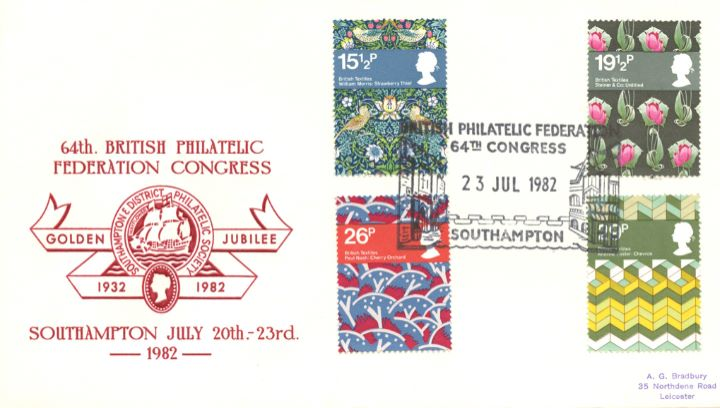 British Textiles, British Philatelic Federation Congresss