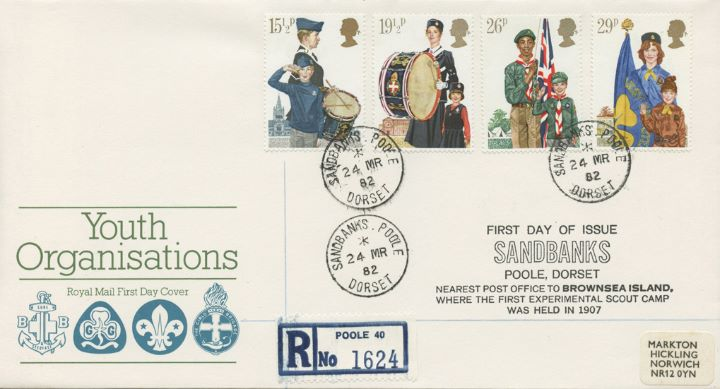 Youth Organisations, Sandbanks postmark