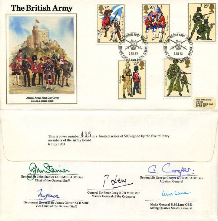 British Army, Army Multi Signed Cover