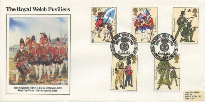 British Army, 23rd Regiment of Foot - Battle of Minden 1759