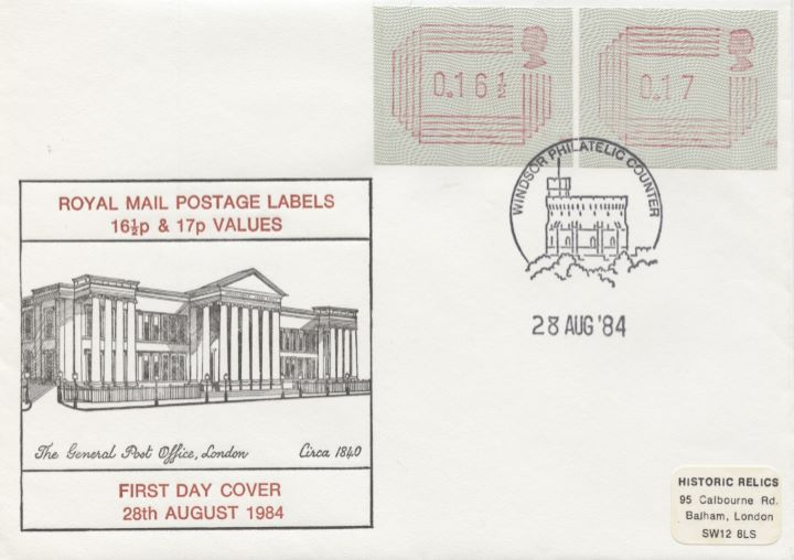 16 1/2p & 17p [Frama Labels], General Post Office