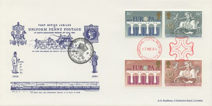 Europa 1984, Uniform Penny Postage