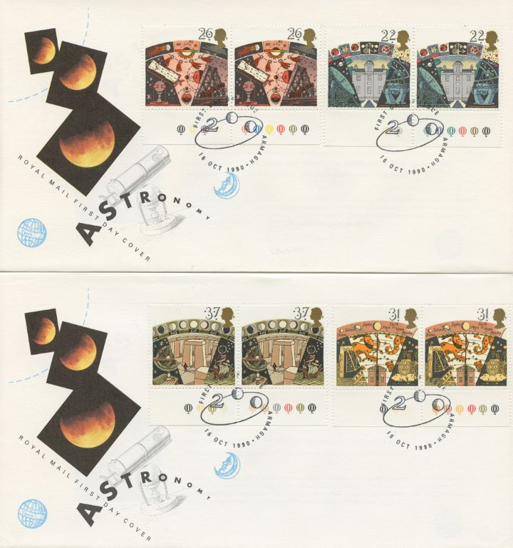 Astronomy, Traffic Light stamps - pair