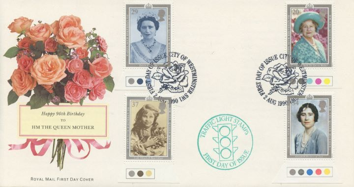 Queen Mother 90th Birthday, Traffic Light stamps
