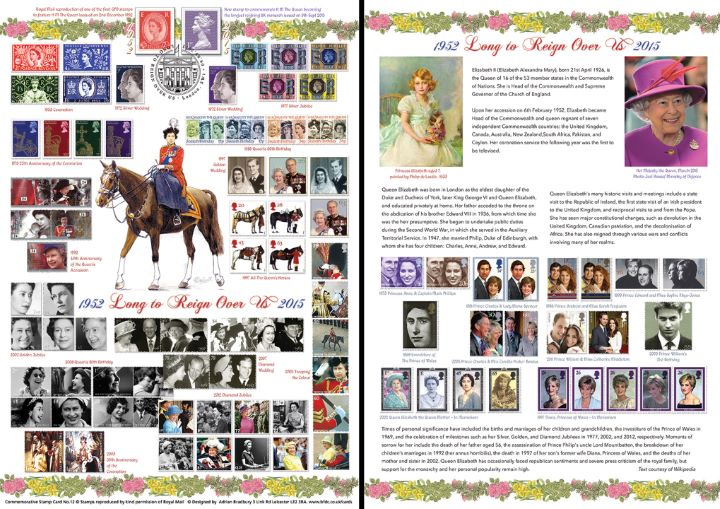 Long to Reign Over Us: Miniature Sheet, The Queen's Stamps