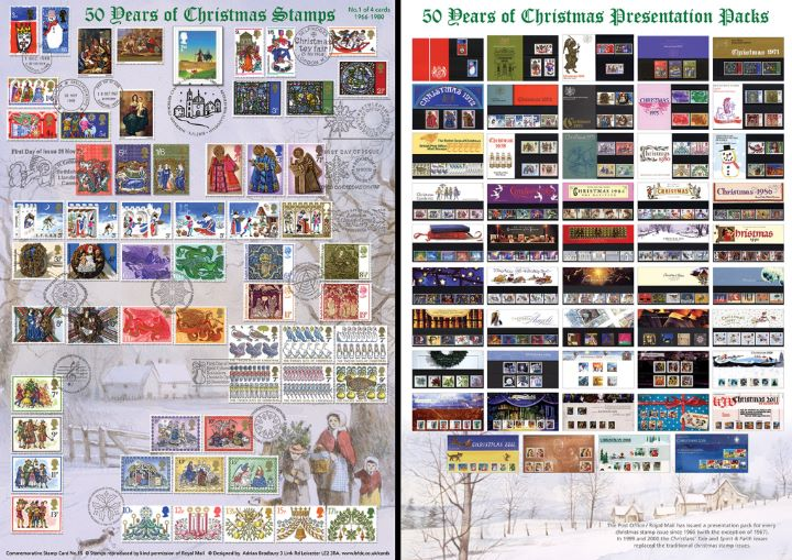 Christmas 2015, 50 Years of Christmas Stamps (Part 1)