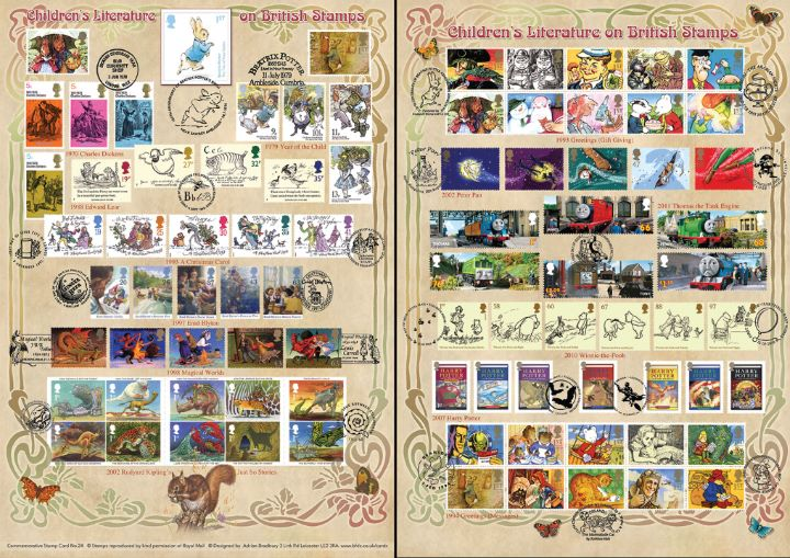 Beatrix Potter, Children's Literature on Stamps