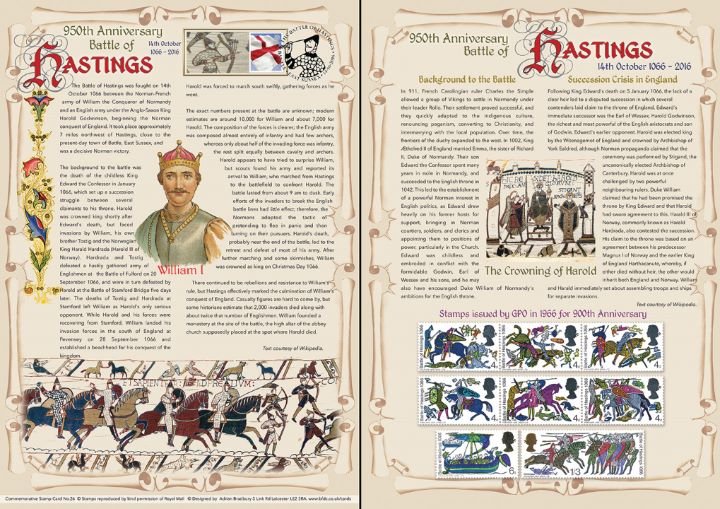 Battle of Hastings [Commemorative Sheet], 950th Anniversary