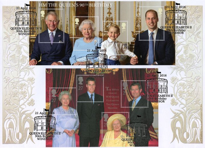 H M The Queen's 90th Birthday: Miniature Sheet, Five Generations