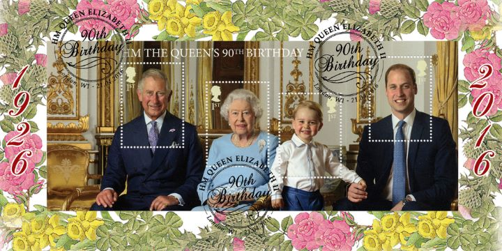 H M The Queen's 90th Birthday: Miniature Sheet, Miniature Sheet
