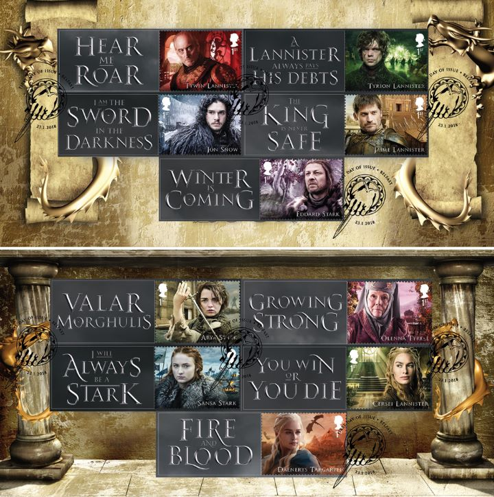 Game of Thrones: Generic Sheet, Key Quotes from the Series PAIR of covers