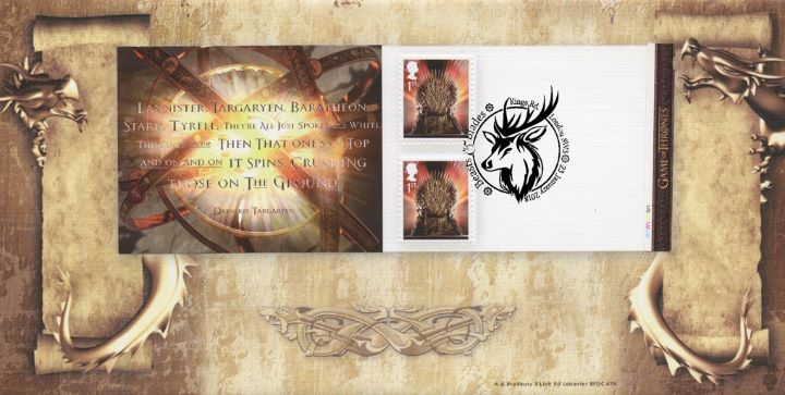 Self Adhesive: Game of Thrones: 6 x 1st, Retail Stamp Book