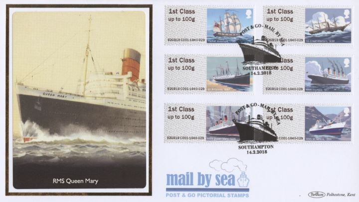 Mail by Sea, RMS Queen Mary