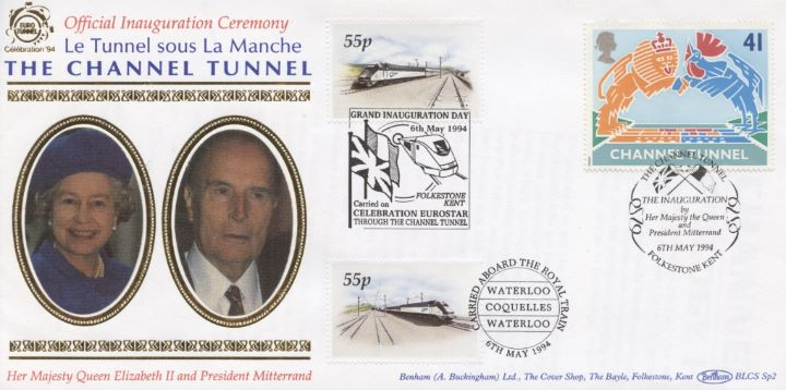 Channel Tunnel, HM The Queen & President Mitterrand