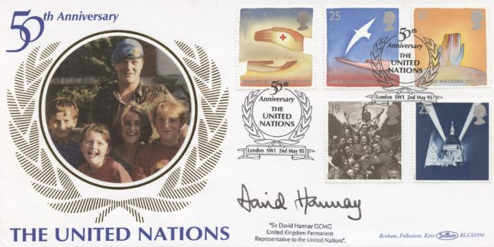 Peace and Freedom, UN Signed Cover