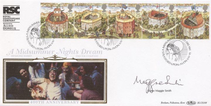 Shakespeare's Globe, Signed by Dame Maggie Smith