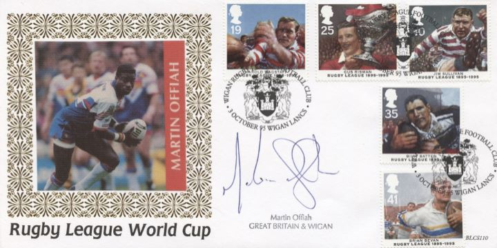 Rugby League, Martin Offiah Signed
