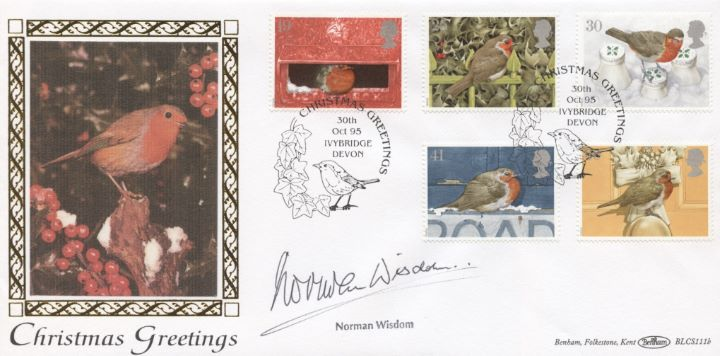 Christmas 1995, Norman Wisdom signed