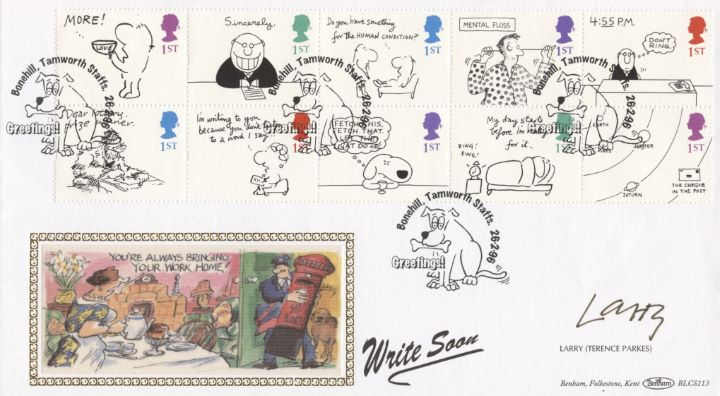 Cartoons (Greetings), Signed Cover