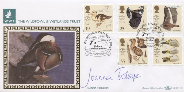 Wildfowl & Wetlands Trust, Joanna Trollope signed