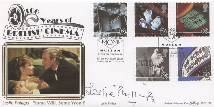 Cinema Centenary, Leslie Phillips signed