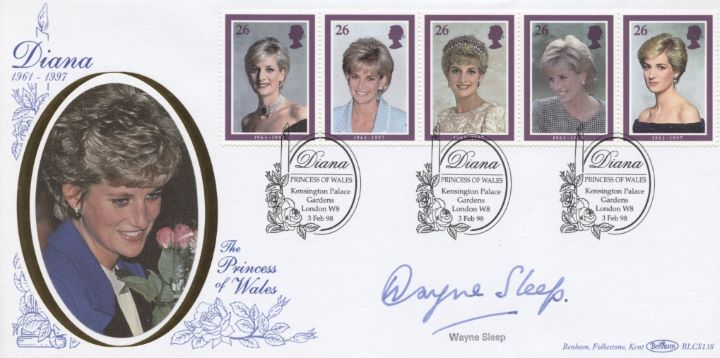 Diana, Princess of Wales, Wayne Sleep signed
