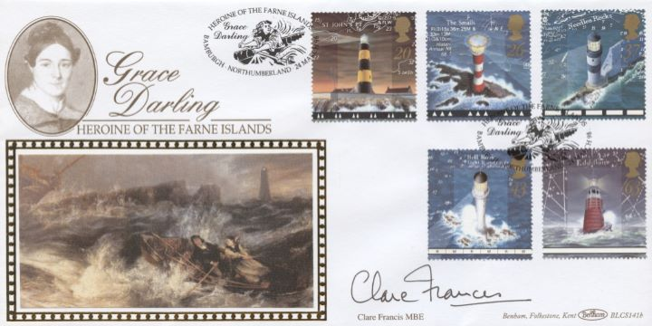 Lighthouses, Clare Francis signed