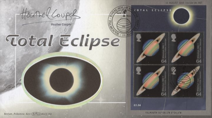 Solar Eclipse: Miniature Sheet, Heather Couper signed