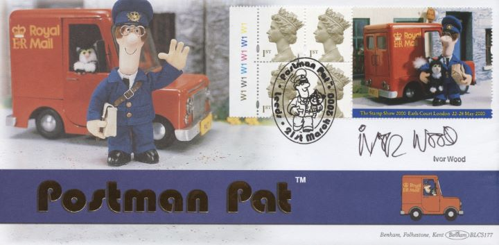 Window: Postman Pat, Ivor Wood signed