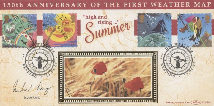 The Weather: Stamps, Isobel Lang signed
